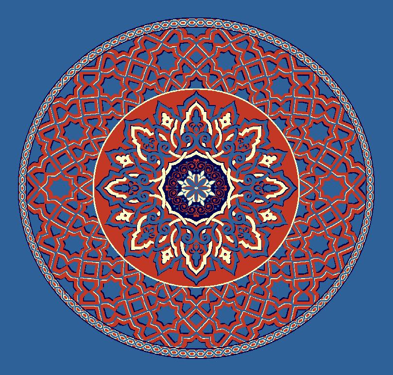 Gobekli Hali Model 3010 - Mavi