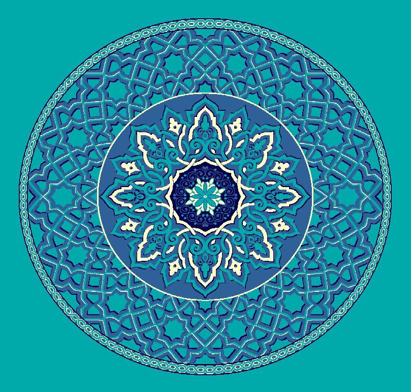 Gobekli Hali Model 3010 - Turkuaz Mavi