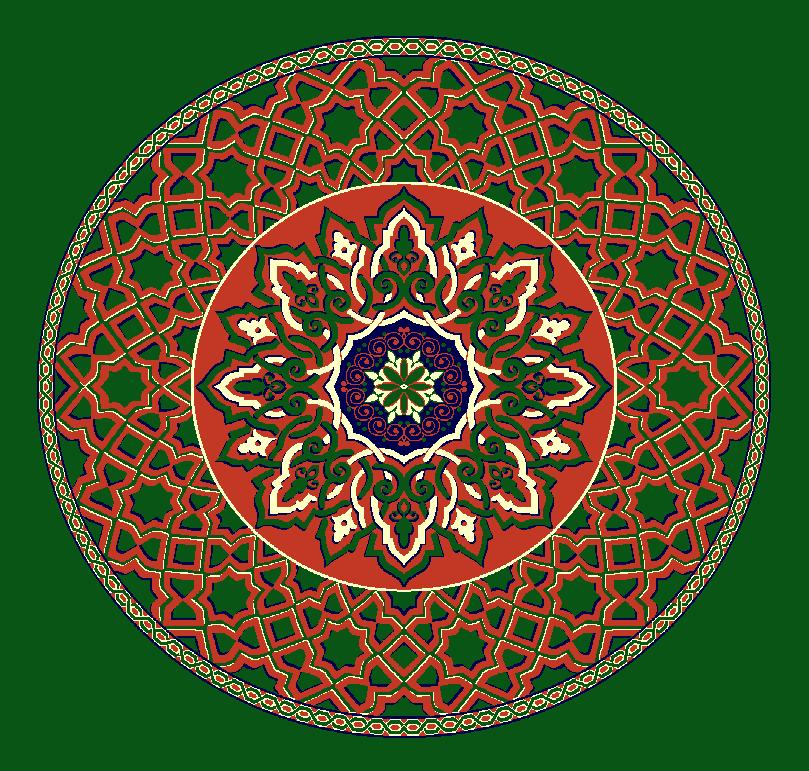 Gobekli Hali Model 3010 - Yeşil