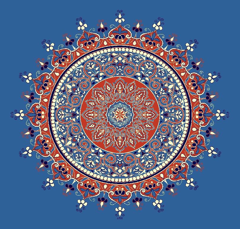 Gobekli Hali Model 3050 - Mavi