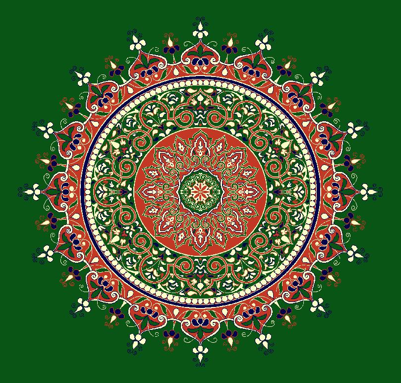 Gobekli Hali Model 3050 - Yeşil