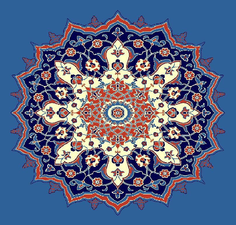 Gobekli Hali Model 3070 - Mavi