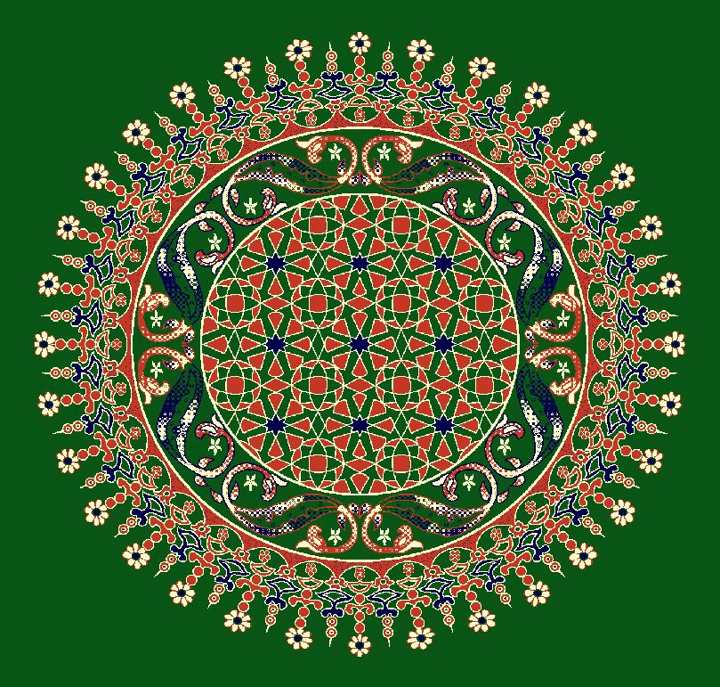 Gobekli Hali Model 3080 - Yeşil