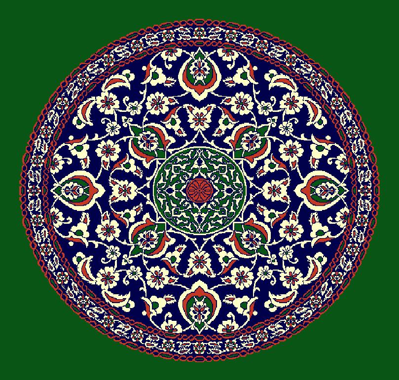Gobekli Hali Model 3090 - Yeşil