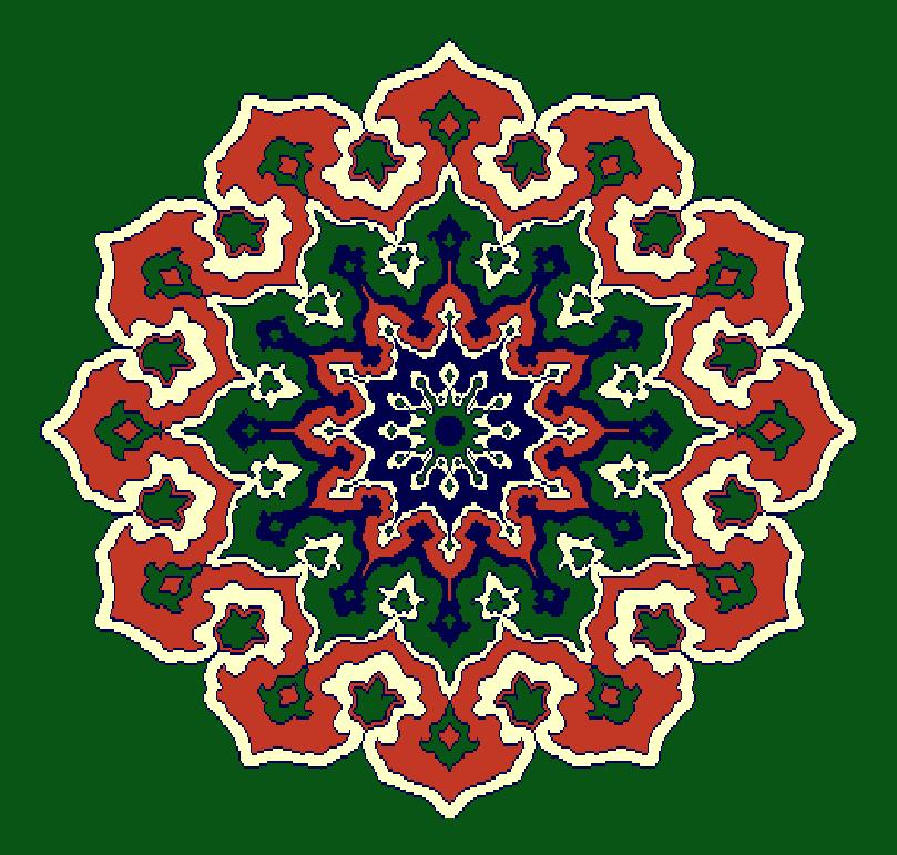 Gobekli Hali Model 3100 - Yeşil