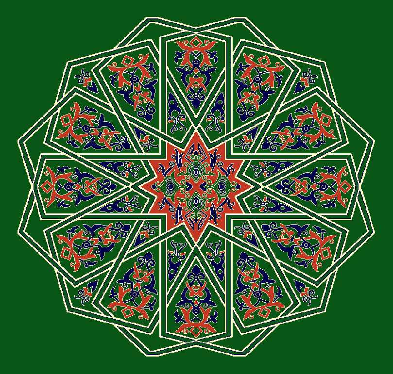 Gobekli Hali Model 3130 - Yeşil