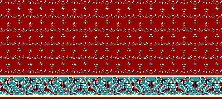 Safli Cami Halisi Model 1020 - Kırmızı