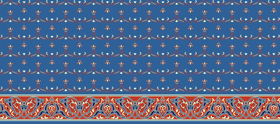 Safli Cami Halisi Model 1020 - Mavi