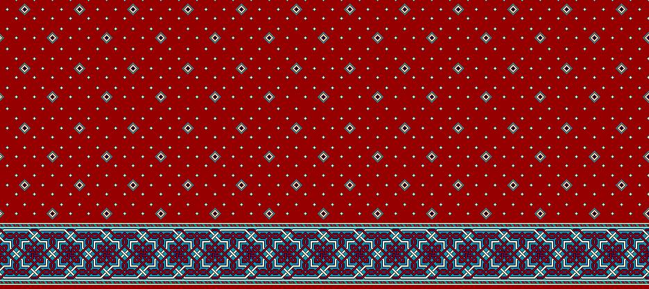 Safli Cami Halisi Model 1030 - Kırmızı