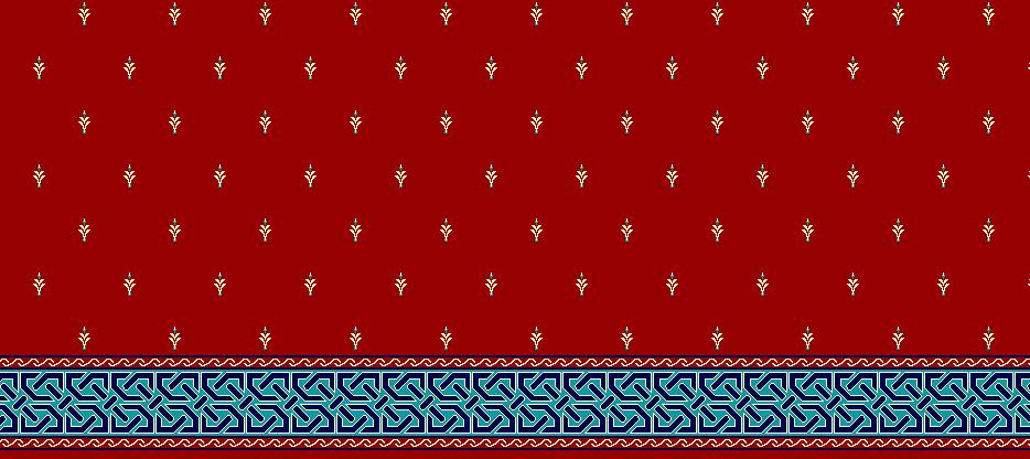 Safli Cami Halisi Model 1040 - Kırmızı