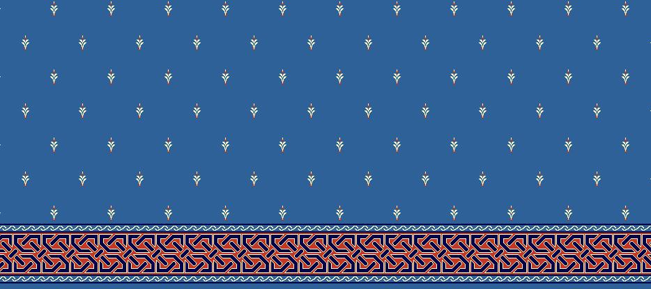 Safli Cami Halisi Model 1040 - Mavi