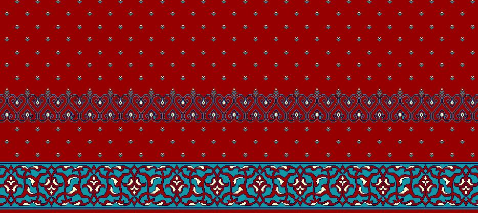 Safli Cami Halisi Model 1050 - Kırmızı