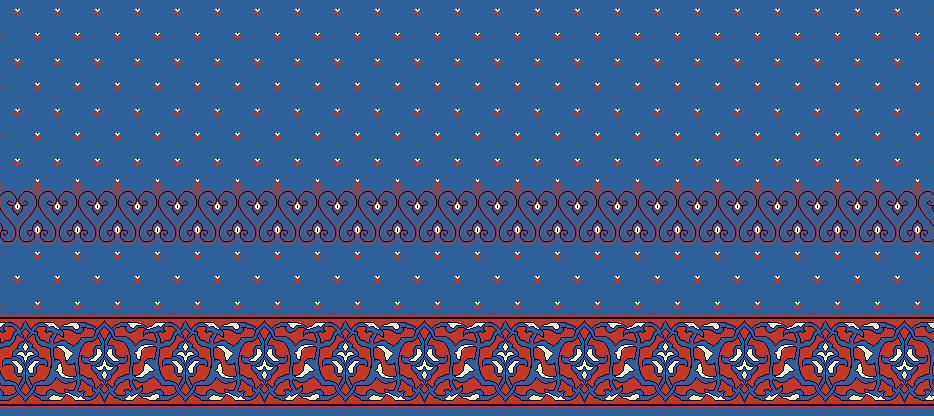 Safli Cami Halisi Model 1050 - Mavi