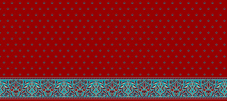 Safli Cami Halisi Model 1060 - Kırmızı