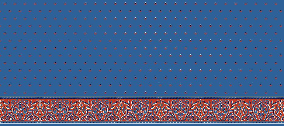 Safli Cami Halisi Model 1060 - Mavi