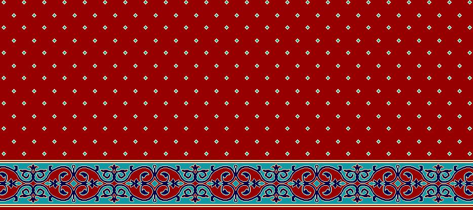 Safli Cami Halisi Model 1070 - Kırmızı
