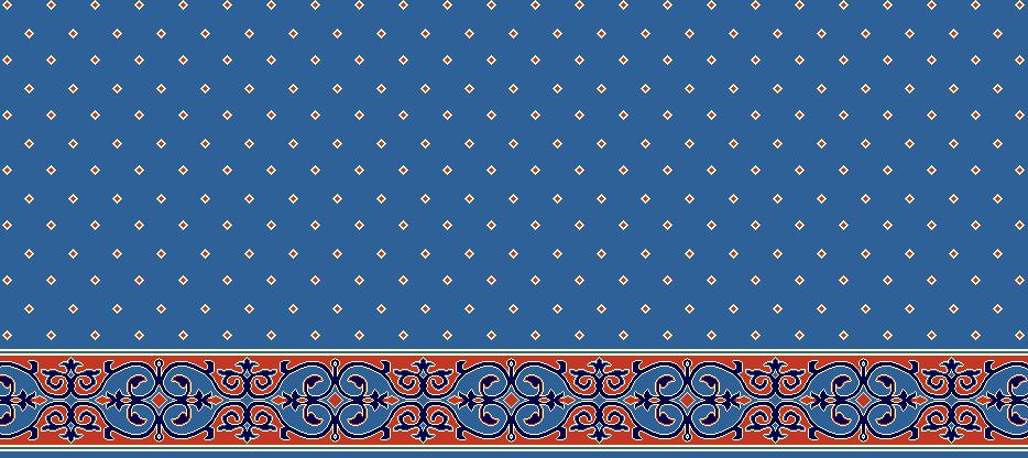 Safli Cami Halisi Model 1070 - Mavi