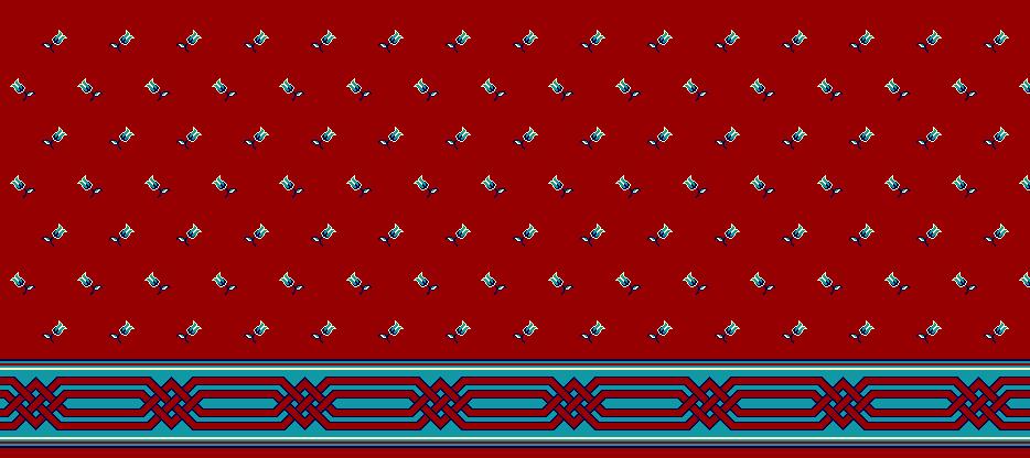 Safli Cami Halisi Model 1080 - Kırmızı