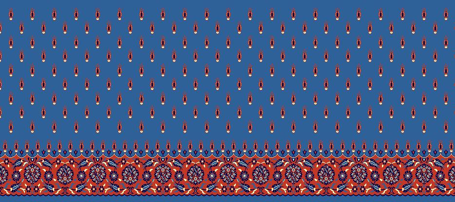 Safli Cami Halisi Model 1090 - Mavi