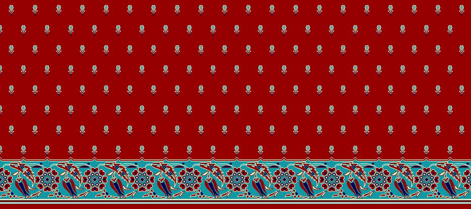 Safli Cami Halisi Model 1120 - Kırmızı
