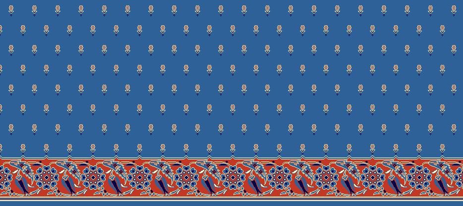 Safli Cami Halisi Model 1120 - Mavi