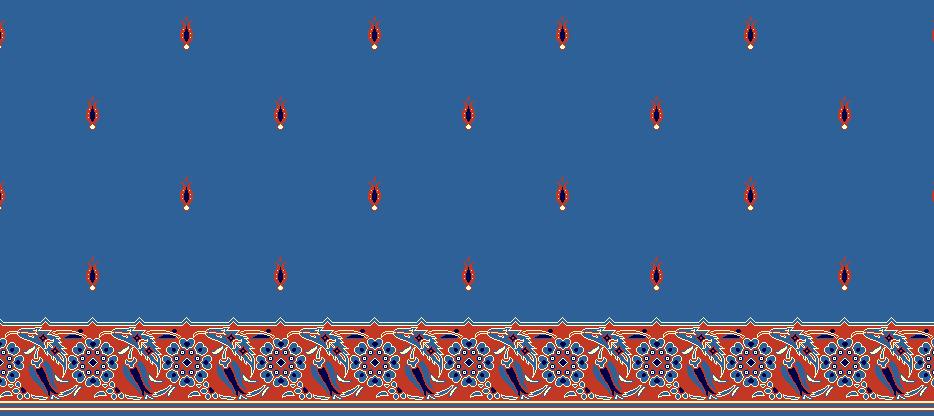 Safli Cami Halisi Model 1125 - Mavi
