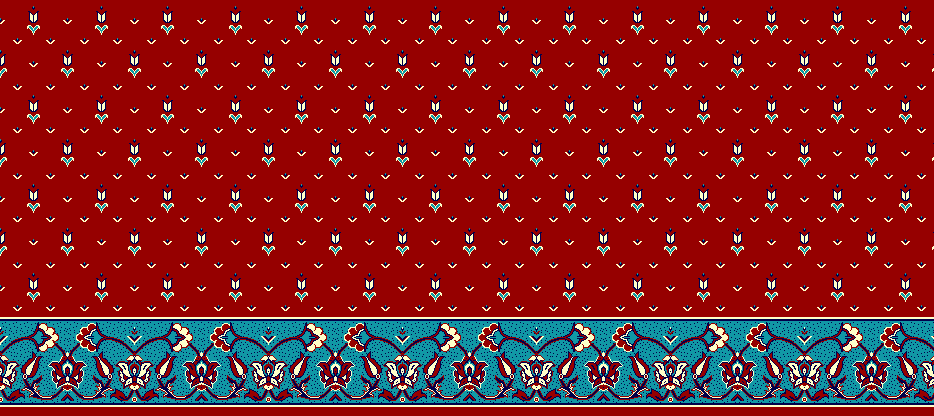 Safli Cami Halisi Model 1130 - Kırmızı