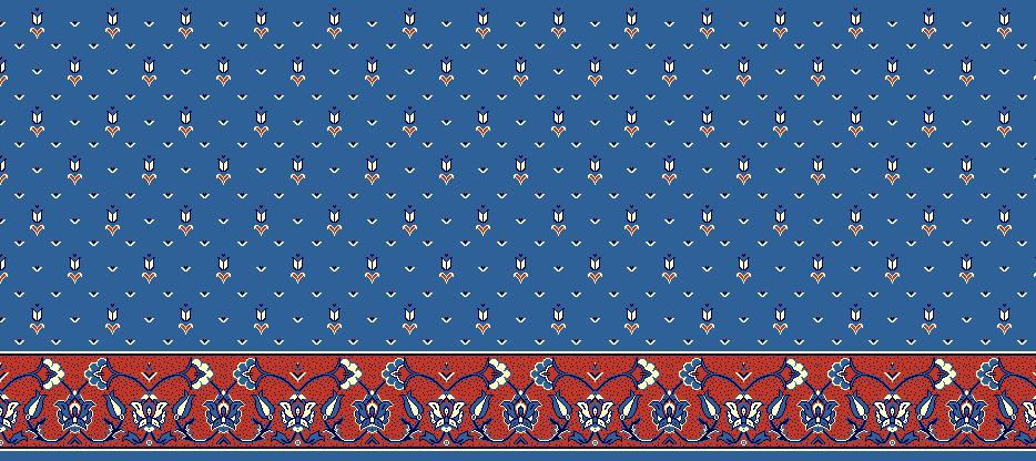Safli Cami Halisi Model 1130 - Mavi