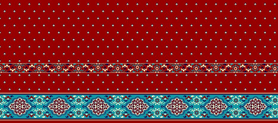 Safli Cami Halisi Model 1140 - Kırmızı