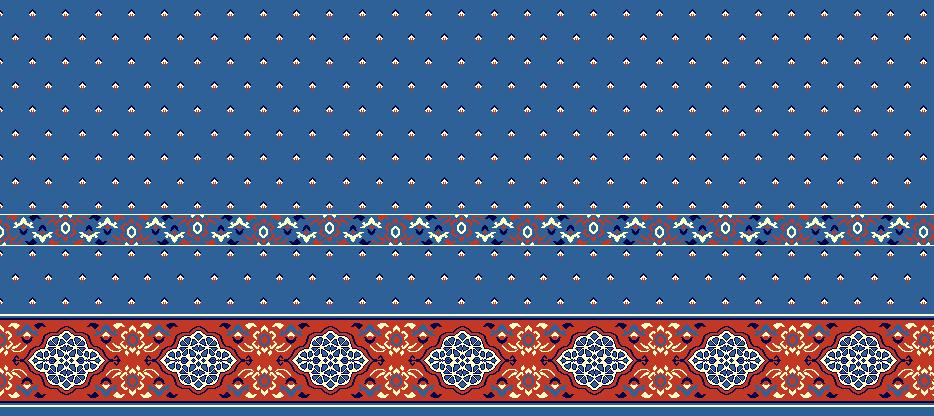 Safli Cami Halisi Model 1140 - Mavi