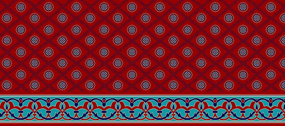 Safli Cami Halisi Model 1160 - Kırmızı