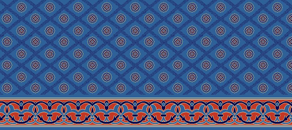 Safli Cami Halisi Model 1160 - Mavi