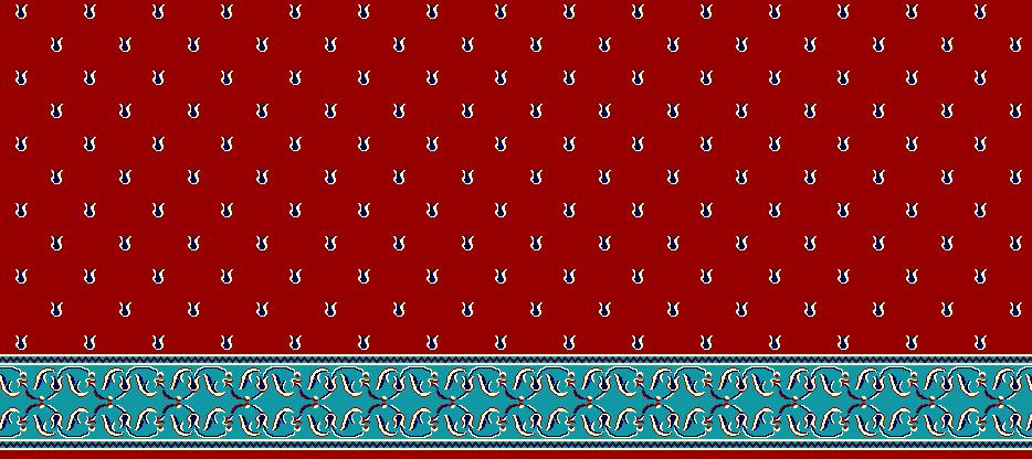 Safli Cami Halisi Model 1170 - Kırmızı
