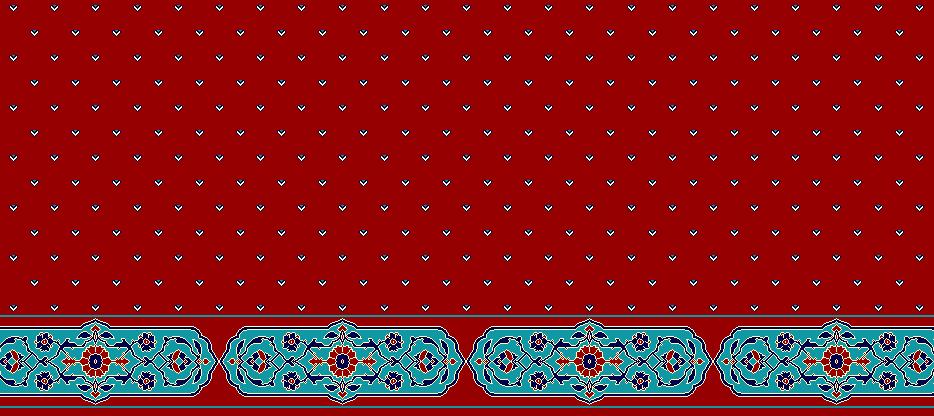 Safli Cami Halisi Model 1180 - Kırmızı