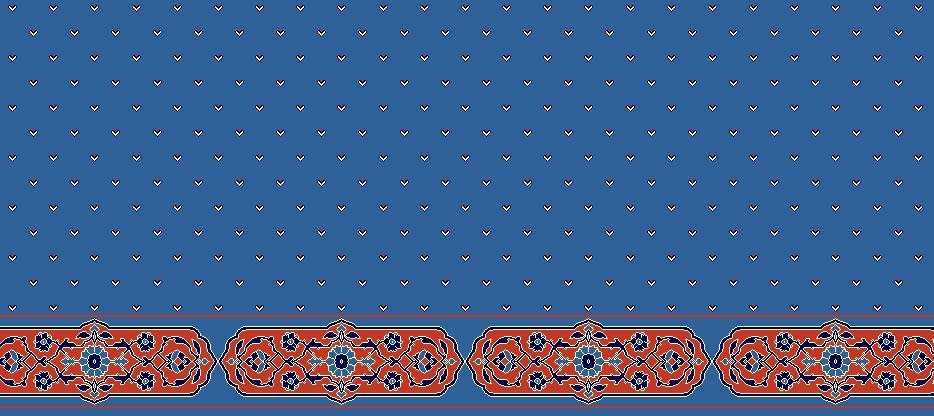 Safli Cami Halisi Model 1180 - Mavi