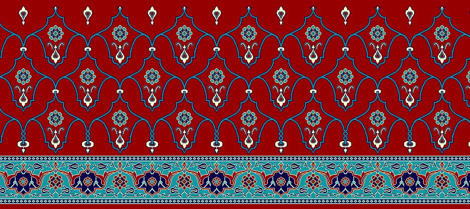 Safli Cami Halisi Model 1210 - Kırmızı
