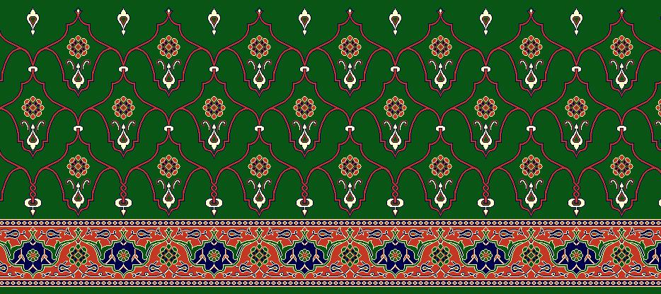 Safli Cami Halisi Model 1210 - Yeşil