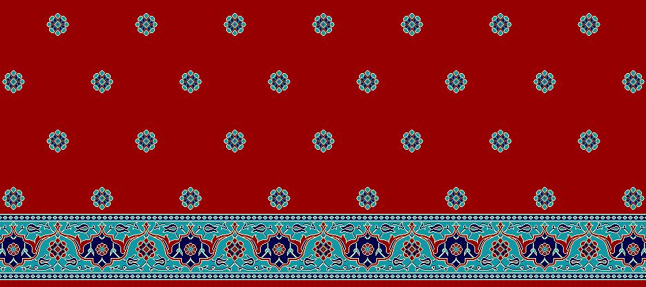 Safli Cami Halisi Model 1215 - Kırmızı