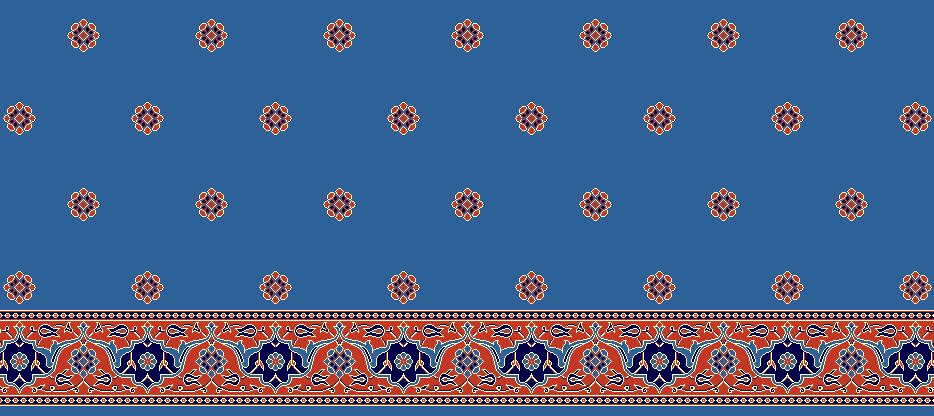 Safli Cami Halisi Model 1215 - Mavi