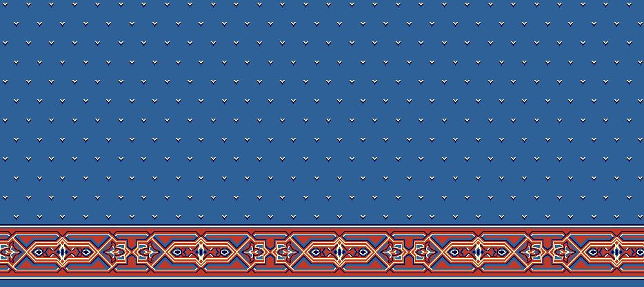 Safli Cami Halisi Model 1220 - Mavi