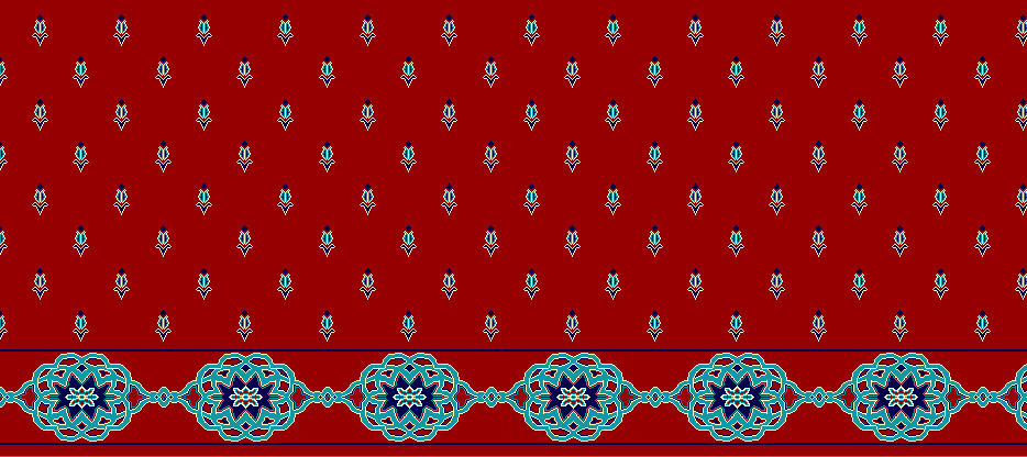 Safli Cami Halisi Model 1240 - Kırmızı