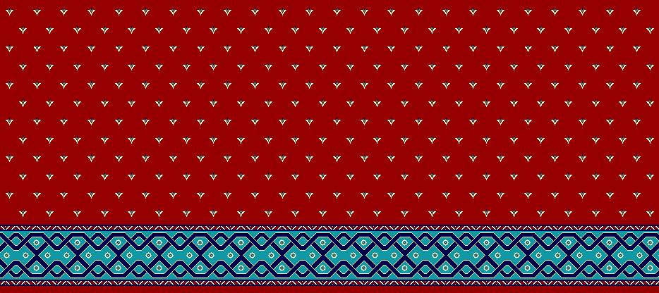 Safli Cami Halisi Model 1250 - Kırmızı