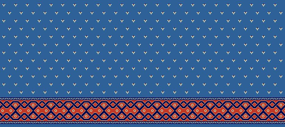 Safli Cami Halisi Model 1250 - Mavi