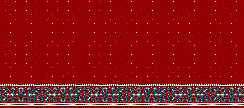 Safli Cami Halisi Model 1280 - Kırmızı