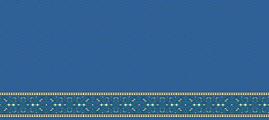 Safli Cami Halisi Model 1280 - Mavi