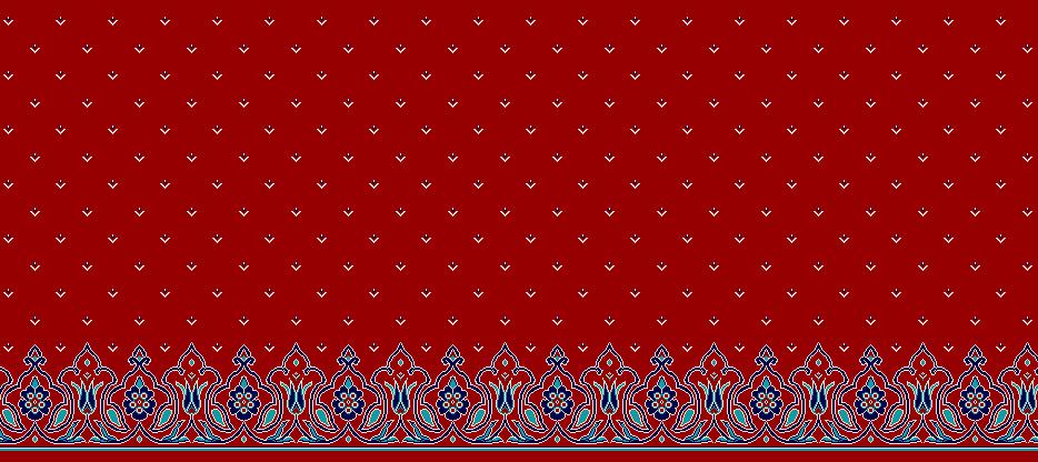 Safli Cami Halisi Model 1310 - Kırmızı