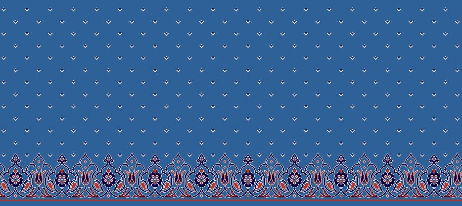 Safli Cami Halisi Model 1310 - Mavi