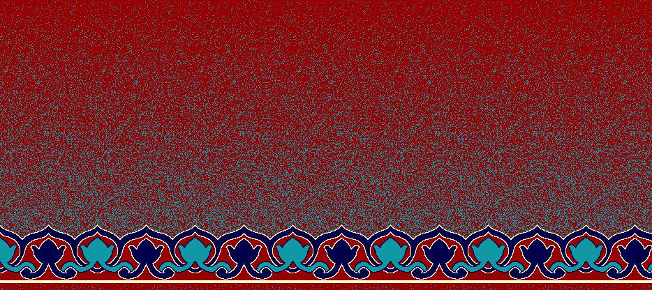 Safli Cami Halisi Model 1350 - Kırmızı