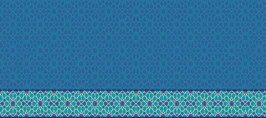 Safli Cami Halisi Model 1360 - Mavi