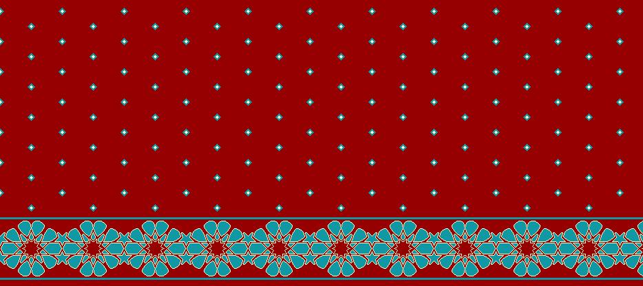Safli Cami Halisi Model 1370 - Kırmızı